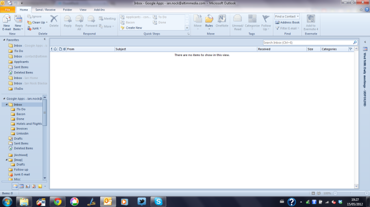 My Inbox, empty for all the world to see